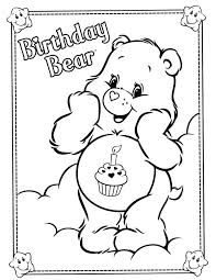 Coloring Pages For Birthdays Printables Care Bears Page Free Printable Birthday Cards