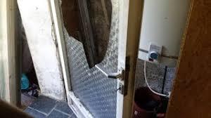 reparatur nebeneingangstür nach glasbruch mdf platte