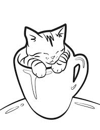 Cute Kitten Coloring Pages To Print Christmas Free Toddlers Enjoy Kitty