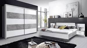 details zu schlafzimmer set komplett 3 teilig betonoptik lichtgrau weiß modern 60867552