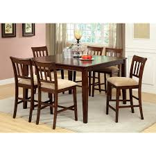 Wayfair Furniture Kitchen Sets by Furniture Of America Telmore 7 Piece Counter Height Set Brown