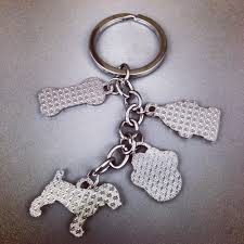 Arlee Home Fashions Dog Bed by Petflow Silver Dog Charm Keychain Petflow