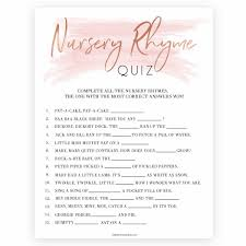 Over Or Under Baby Shower Game Baby Shower Quiz Coed