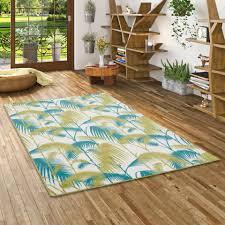 designer teppich samba türkis grün palmen