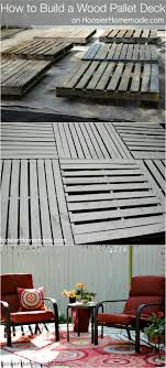 How To Build A Wood Pallet Deck Outdoor Space Details On Best Diy Patio Ideas Pinterest