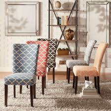 Catherine Moroccan Pattern Fabric Parsons Dining Chair (Set ...