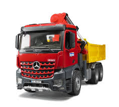 Bruder MB Arocs Construction Truck With Crane And Accessories - Bruder