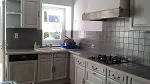 cuisine blanc cérusé cuisine repeinte en gris