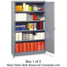 tnnj478lgy tennsco jumbo storage cabinet 48 x 24 x 78 steel