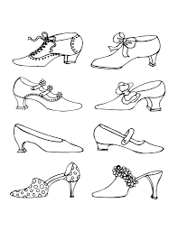 Vintage Victorian Shoes Drawn In Ink Pen