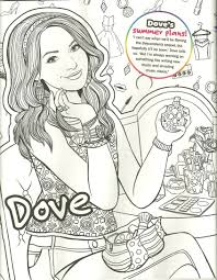 Dove Cameron Liv Maddie Mal Coloring Page