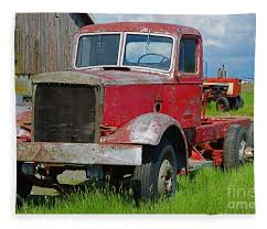 100 Vintage Semi Trucks For Sale Old Rusted Truck Fleece Blanket For By Randy Harris
