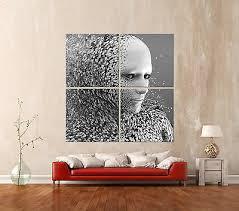 abstrakt character leinwand bild schwarz weiss abstrakt