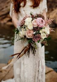Blush Toned Bridal Bouquet With Roses And Astilbe Elegant Rustic Wedding Ideas