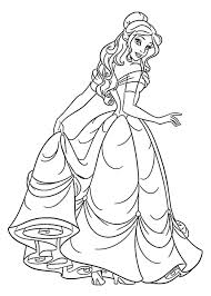Beauty And The Beast Rose Coloring Pages Printable Page Belle Inspired Hold Dress Clothes Quiet Free