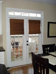 Bamboo Roman Blind For French Dining Room Door To Patio Decofurnish New Doors In