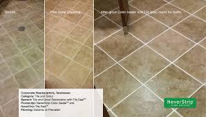 tile and grout restoration color sealer and tile seal never