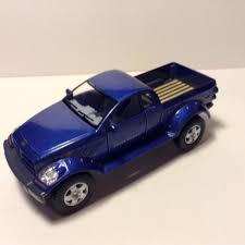 100 Blue Dodge Truck Kinsmart Power Wagon Pickup Die Cast Metal Scale 1