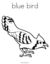 Blue Bird Coloring Page