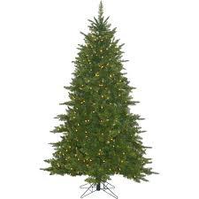 Vickerman Durango Spruce Artificial Christmas Tree With Warm White Mini Lights