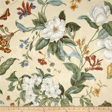 Curtain Fabric By The Yard by Waverly Garden Images Parchment Discount Designer Fabric