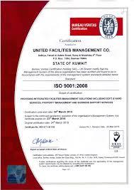 bureau veritas kuwait certification united facilities management