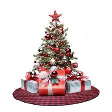 White Christmas Tree Skirt Walmart by Shop Amazon Com Christmas Tree Skirts
