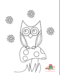 Cute Owl Coloring Page 6