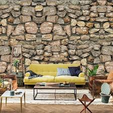 3D Stone Wallpaper Modern PVC Imitation Waterproof Home Wall Decor Brick Custom