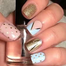 Best 25 Blue gold nails ideas on Pinterest
