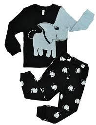 little hand unisex boys girls pyjamas elephant 100 cotton