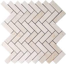 marfil marble 1x3 herringbone mosaic tile honed
