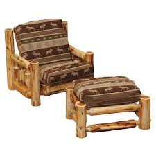 Cedar Futon Chair And Ottoman And Cover - Prairie Mountain Furniture