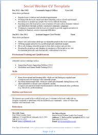 Job Resume Sample Social Worker Example Work Format Service