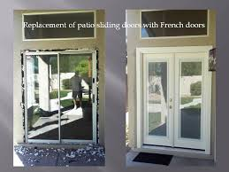 Sliding Door With Blinds In The Glass by Removing Patio Sliding Door And Installing French Doors With Mini