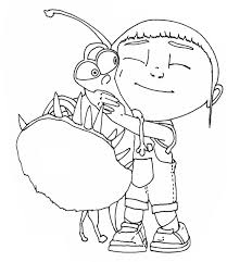 Despicable Me Coloring Pages Kids Under 7 Party With Gallery
