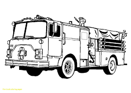 Firetruck Color Pages - Coloring Pages