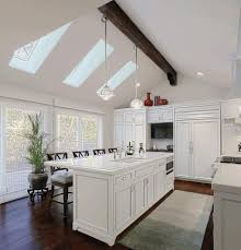Lighting For Sloped Ceilings by Lights For Vaulted Ceilings Kitchen Wall Mount Range Hood Red