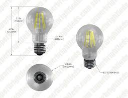a19 led bulb 60 watt equivalent led filament bulb dimmable