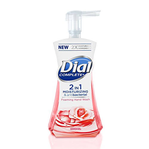 Dial Complete 2 in 1 Moisturizing and Antibacterial Foaming Hand Wash - Rose Oil, 7.5oz