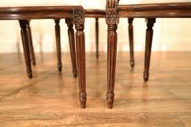 Solid Mahogany Dining Chairs Louis XIV