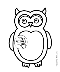 Owl Bird Coloring Page Nature For Kids Printable Free