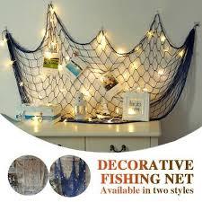 deko fischernetz fischernetz mit muscheln maritim strand urlaub meer weiß blau ebay