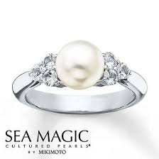 183 best Pearl Engagement Rings images on Pinterest