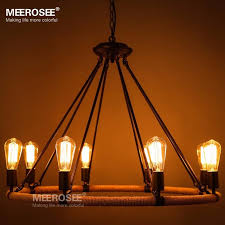 vintage edison bulb pendant light fitting american style rope drop