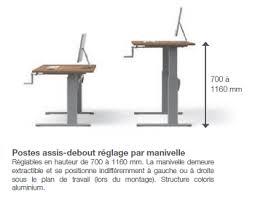 bureau à hauteur variable bureau hauteur