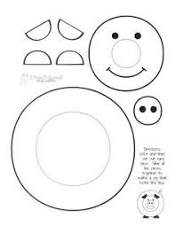 Coloring Pages Printable Pig Face Kids Crafts Extraordinary Cute Pictures Separated Body Parts Big