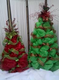 Tomato Cage Christmas Tree With Mesh Inspirational Ribbon Ideas
