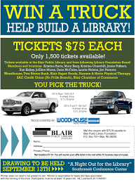 Win A TRUCK! There's Still Time…. !!!! – Blair Public Library ... Allnew Innovative 2017 Honda Ridgeline Wins North American Truck Win Your Dream Pickup Bootdaddy Giveaway Country Fan Fest Fords Register To How Can A 3000hp 1200 Mile Road Race Ask Street Racing Bro Science On Twitter Last Chance Win The Truck Car Hacking Village Hack Cars A Our Ctf Truck Theres Still Time Blair Public Library Win 2 Year Lease Of 2019 Gmc Sierra 1500 1073 Small Business Owners New From Jeldwen Wire