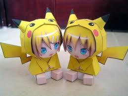 Chibi Papercraft Pikachu Babies